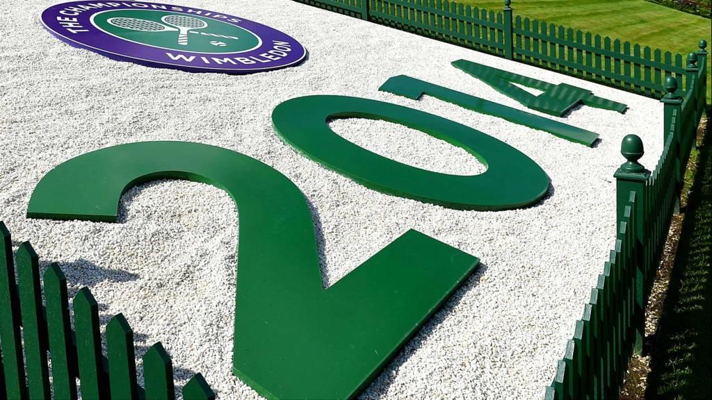 Wimbledon 2014 sign