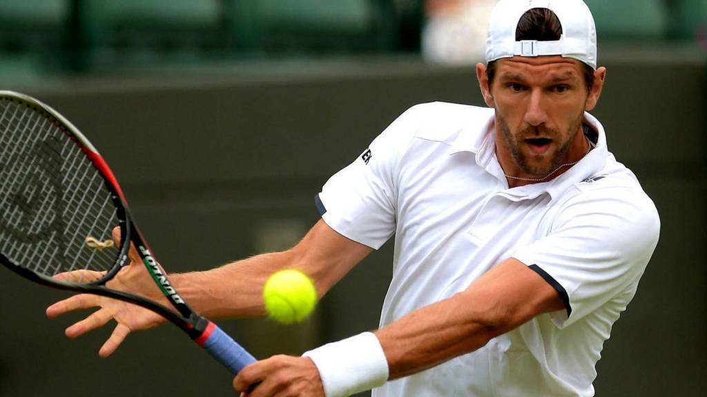 Jurgen Melzer on Court One at Wimbledon 2014
