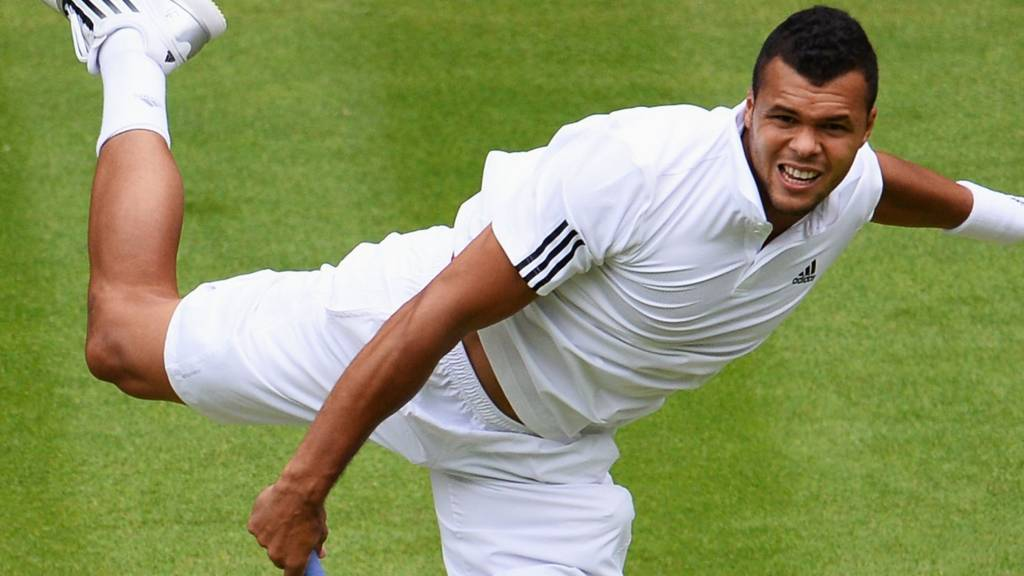 Tsonga at Wimbledon