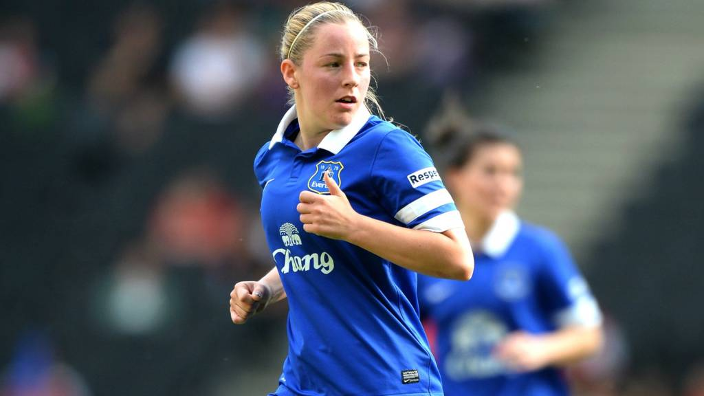 Kelly Jones in action for Everton