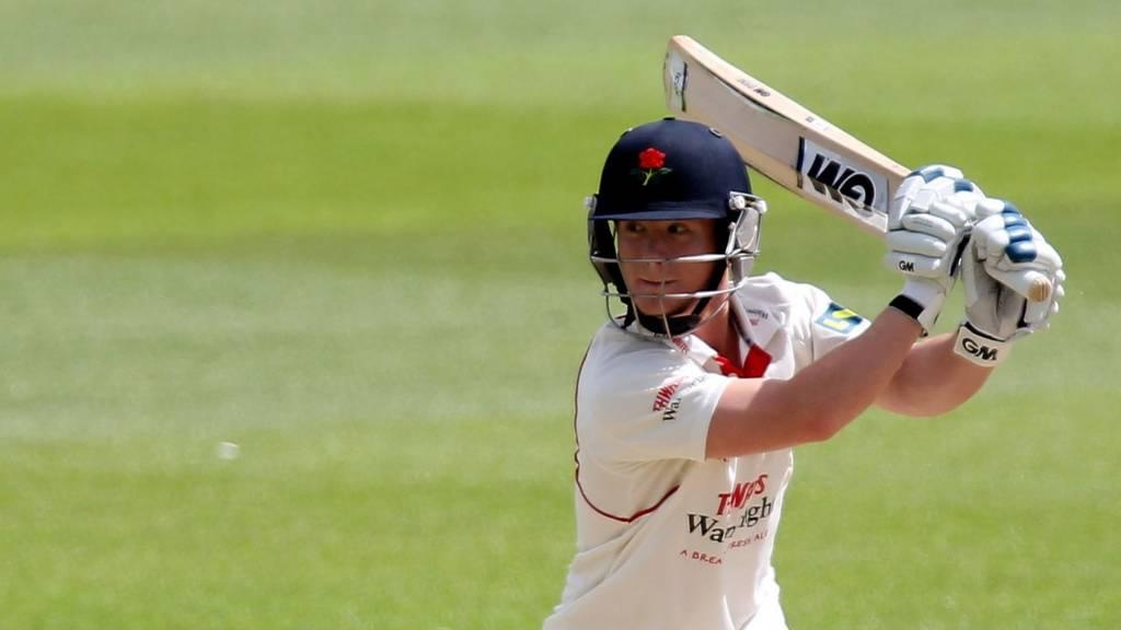 Davies batting for Lancashire