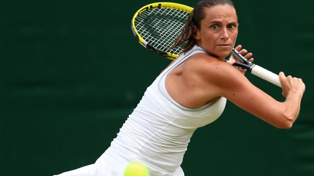 Roberta Vinci playing at Wimbledon