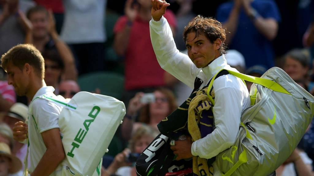 Rafael Nadal at Wimbledon 2014