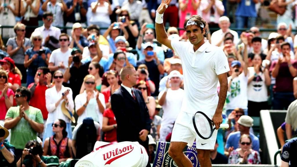 Roger Federer at Wimbledon 2014