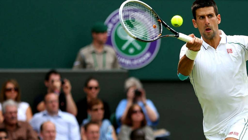 Novak Djokovic at Wimbledon 2014