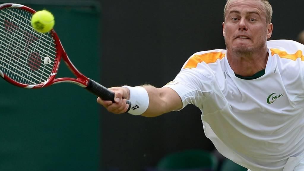 Lleyton Hewitt at Wimbledon 2014