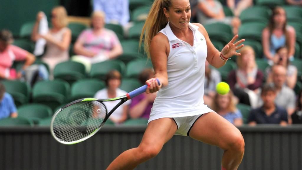 Dominka Cibulkova in Wimbledon 2014