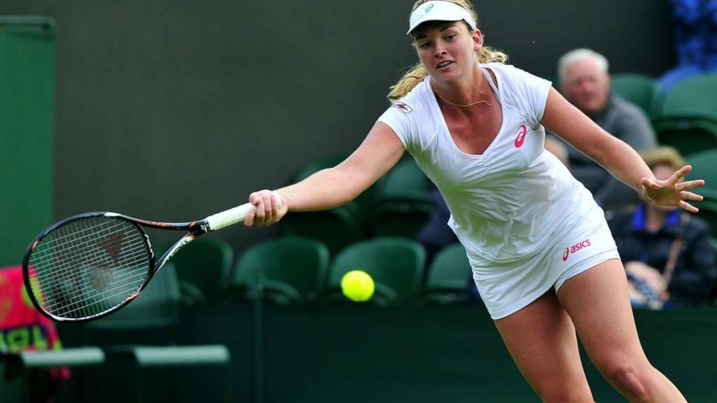 Coco Vanderweghe at Wimbledon 2013
