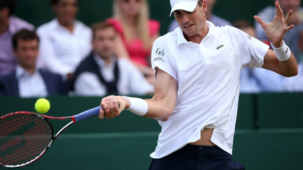 John Isner at Wimbledon 2014