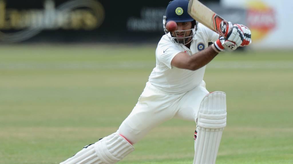 Cheteshwar Pujara batting for India