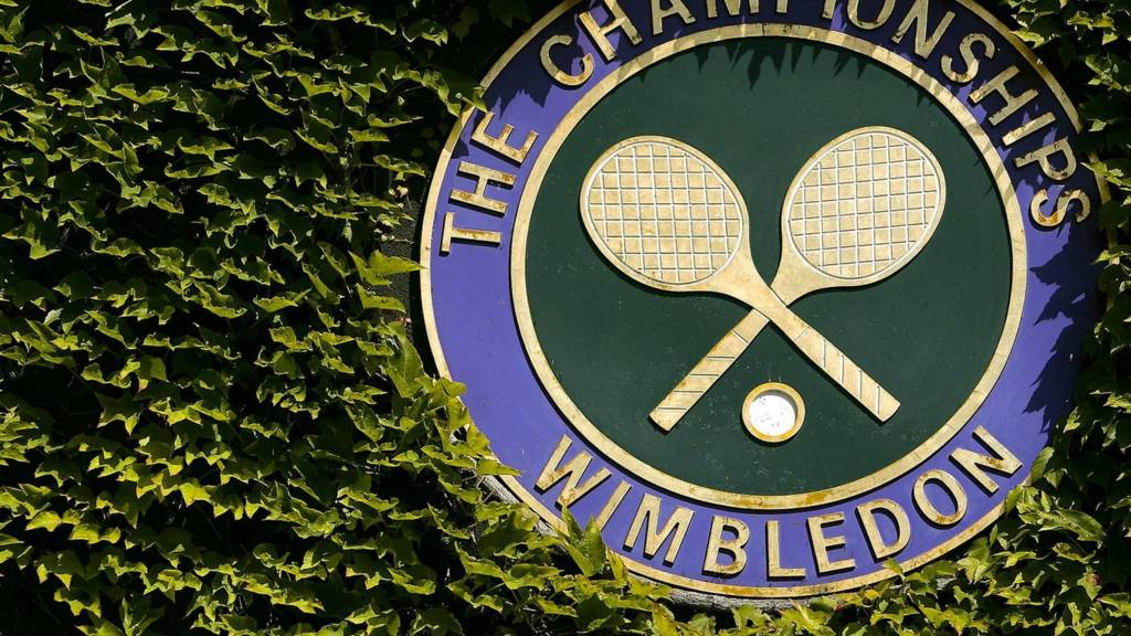 The official logo of the Wimbledon Championships