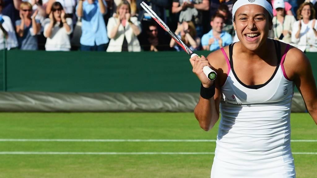 Heather Watson at Wimbledon