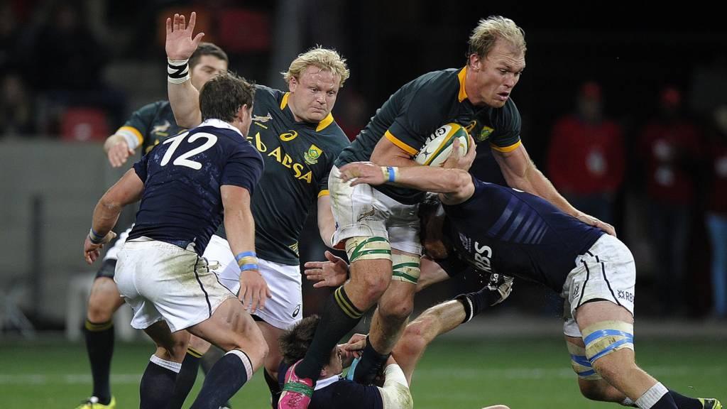 Scotland were hammered 55-6 in Port Elizabeth
