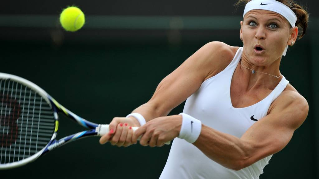 Lucie Safarova at Wimbledon 2014