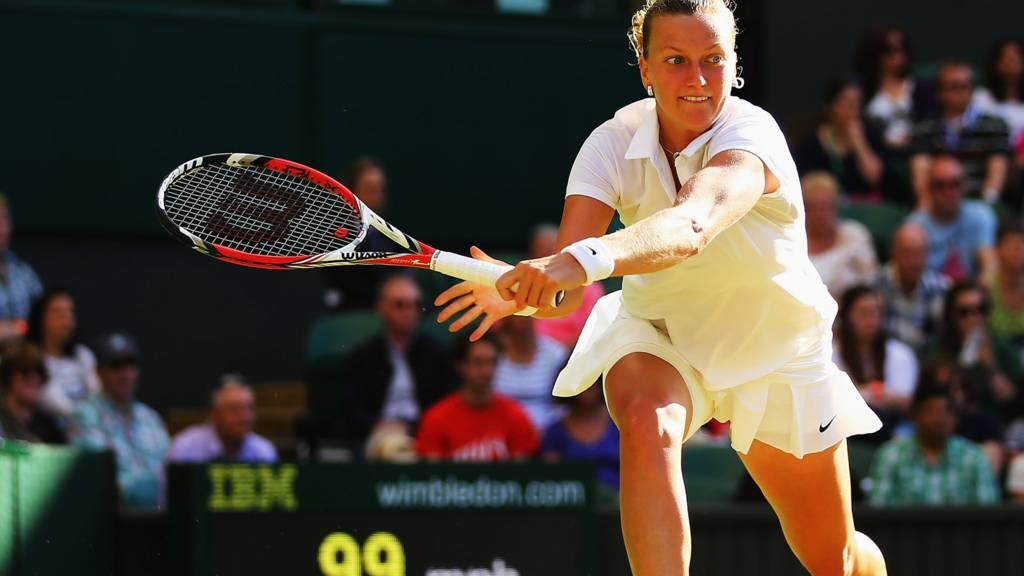 HERO Petra Kvitova of the Czech Republic hits a return