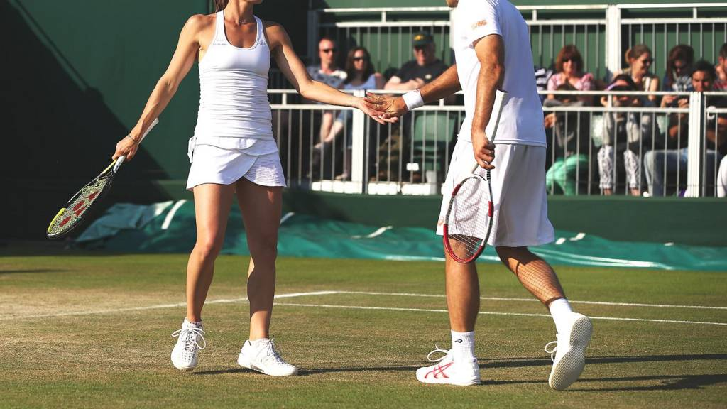 Mixed doubles partners at Wimbledon 2014
