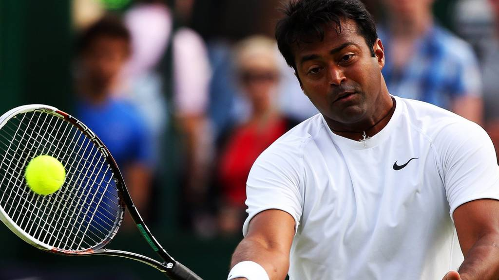 Leander Paes at Wimbledon 2014