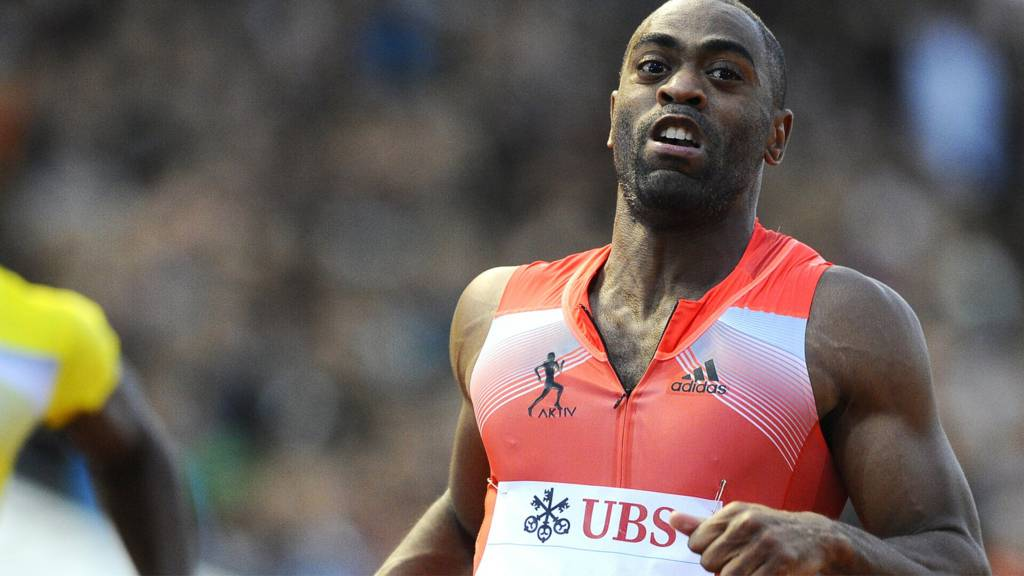 Tyson Gay competing