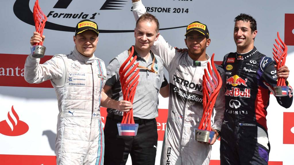 Silverstone podium post race
