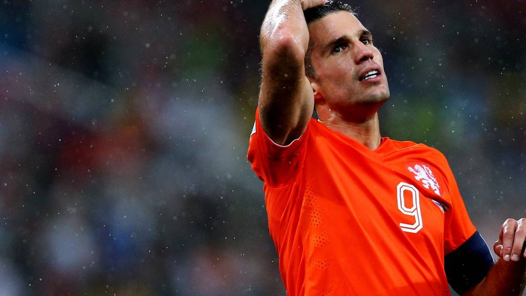 Robin van Persie in action for the Netherlands