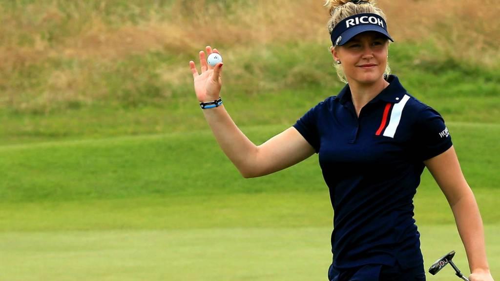British golfer Charley Hull at the Women's British Open