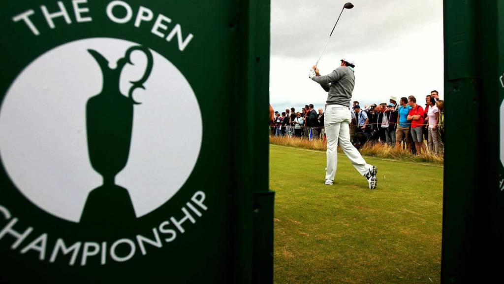 Rory McIlory at the Open