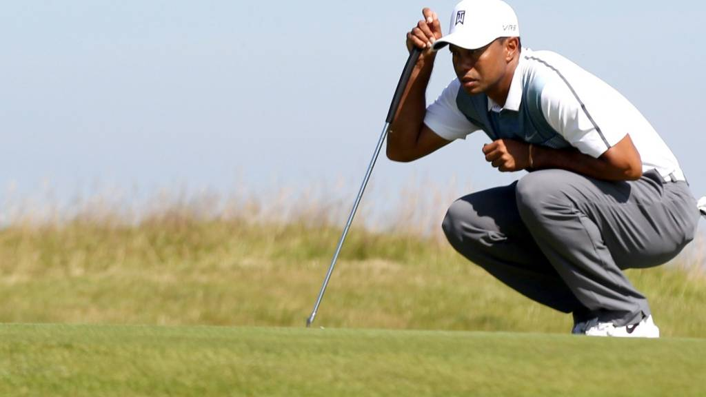 Tiger Woods during the Open 2014