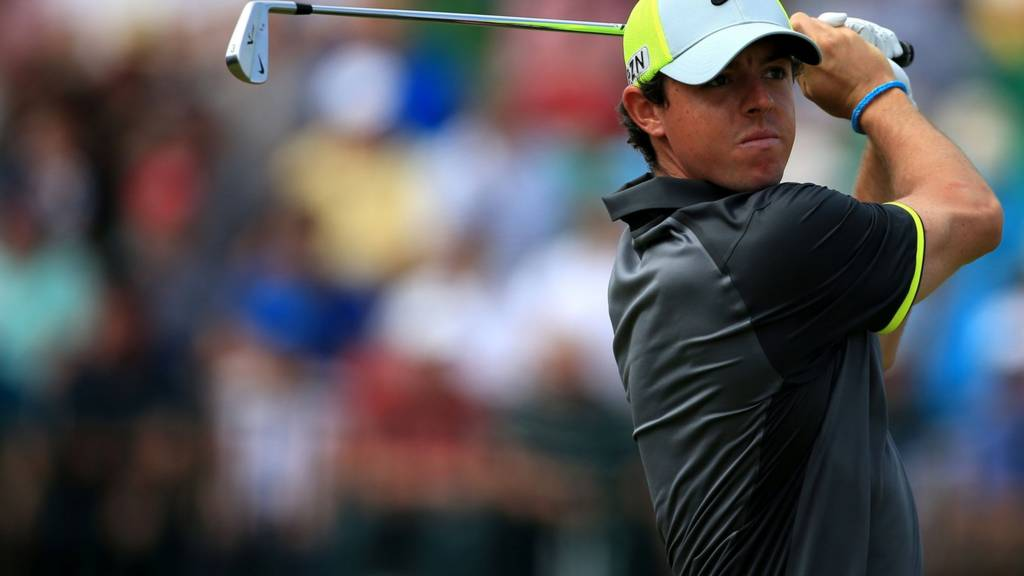 Rory McIlroy in action at The Open 2014 day two