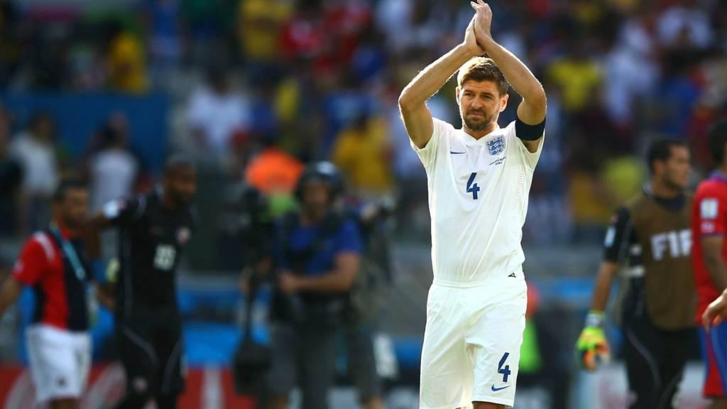 Steven Gerrard retires from international football