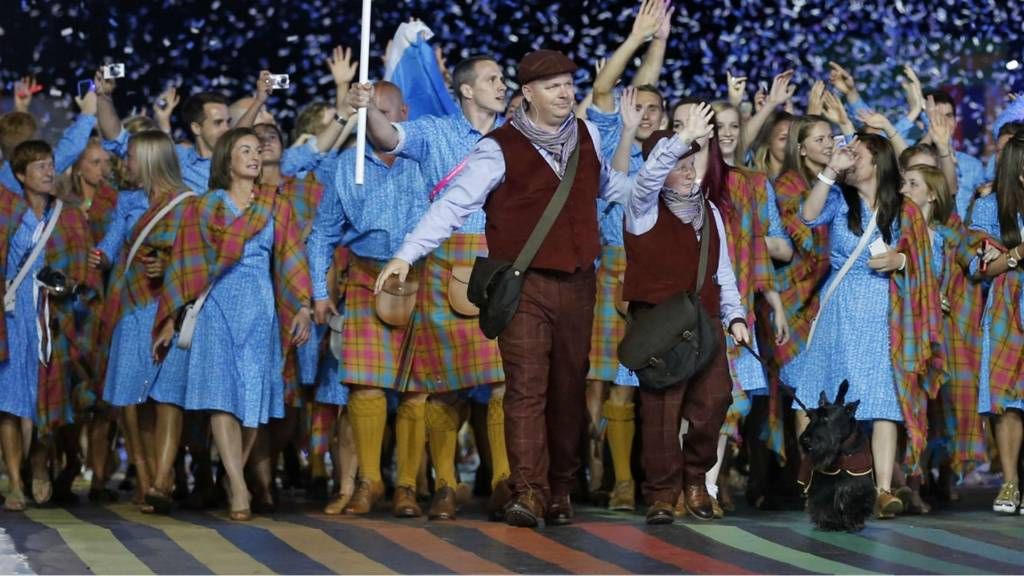 Scottish athletes arrive