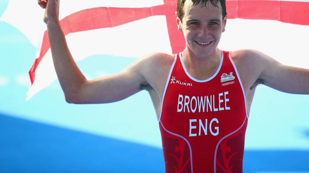 Alistair Brownlee wins the gold medal