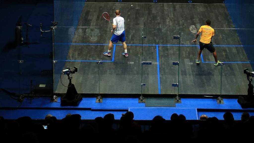 Action from the squash at Glasgow 2014 Commonwealth Games