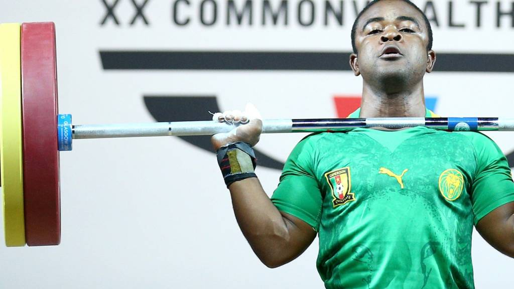 cameroon weightlifter glasgow 2014 commonwealth