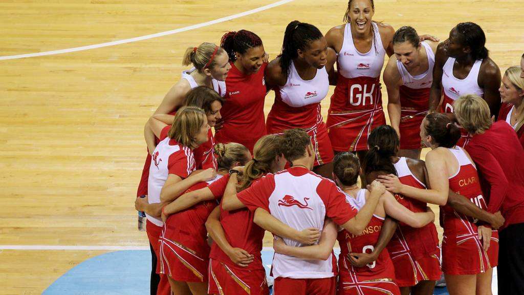 The English netball team at Commonwealth Games Glasgow 2014
