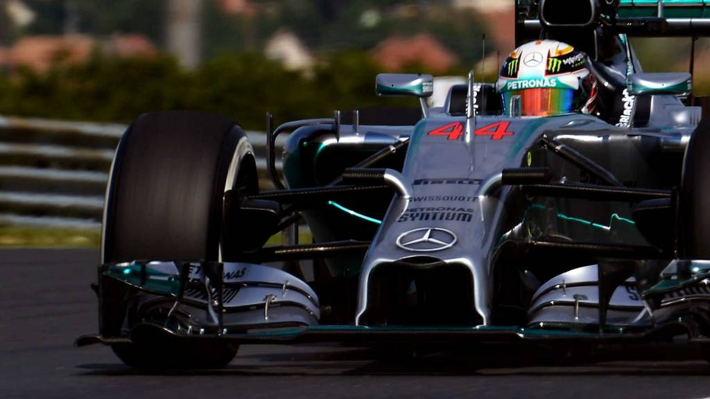 Lewis Hamilton in his Mercedes AMG F1 car at Hungary