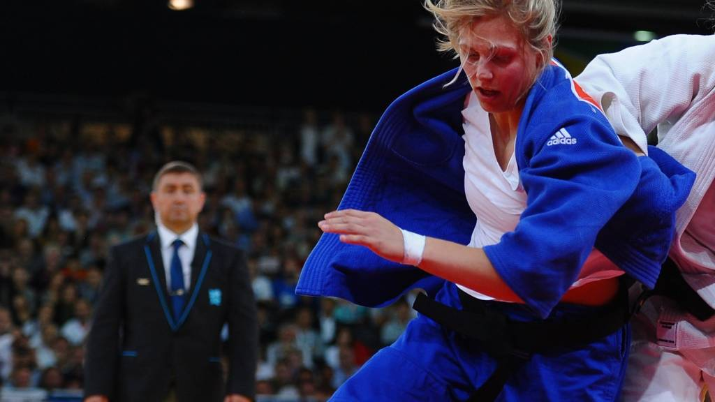 Gemma Gibbons of England competes