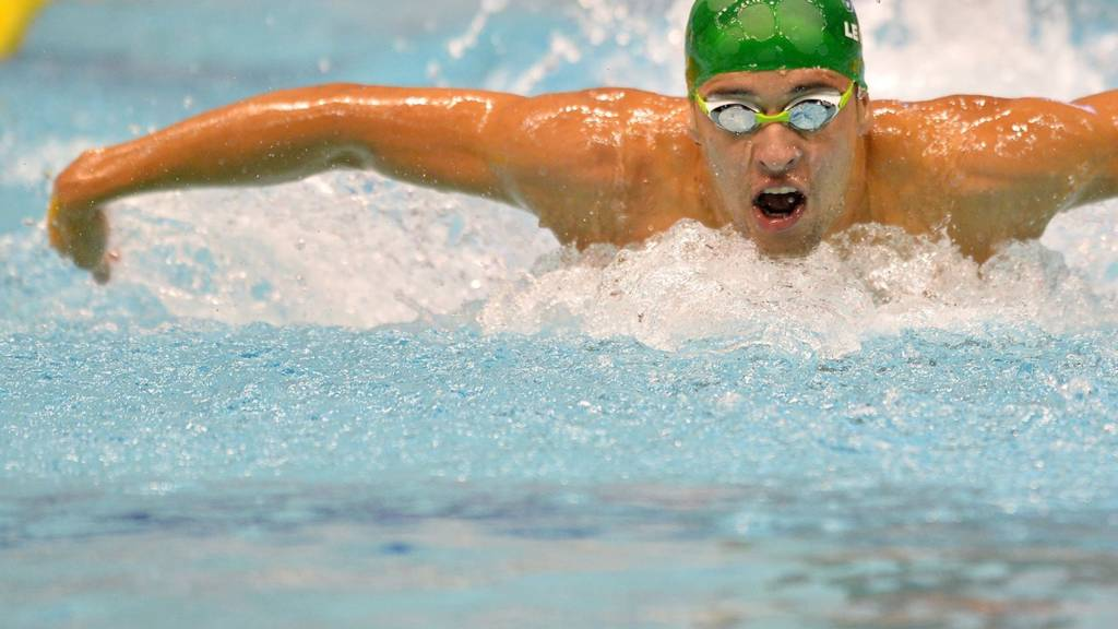 South Africa's Chad le Clos swims the 200m butterfly