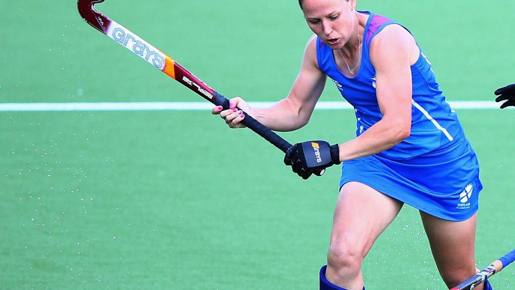 Vikki Bunce of Scotland in their match against Malaysia