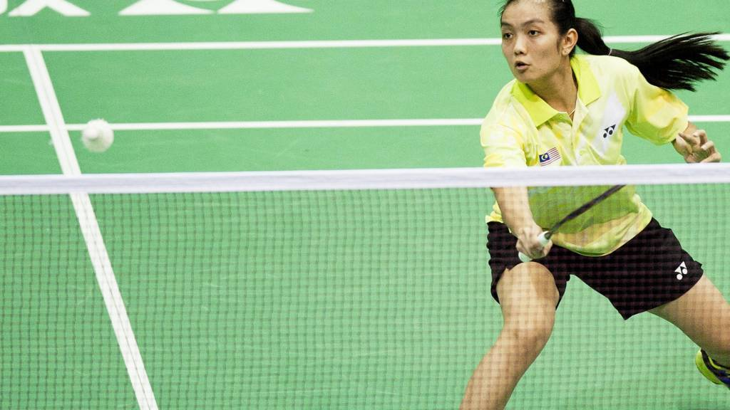 Malaysia's Lai Pei Jing in action