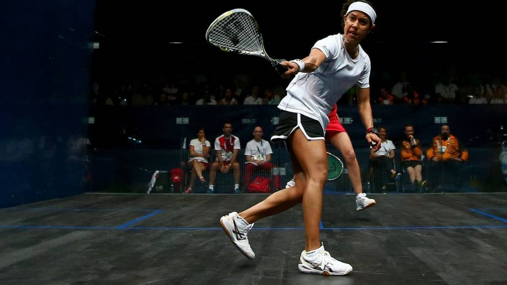 Malaysia's Nicol David in action