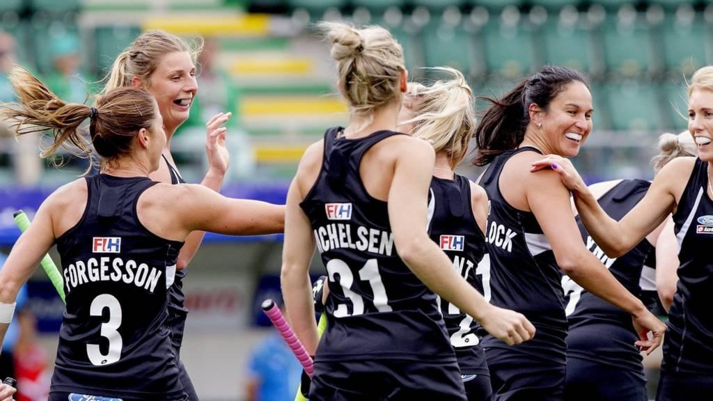 New Zealand women celebrate