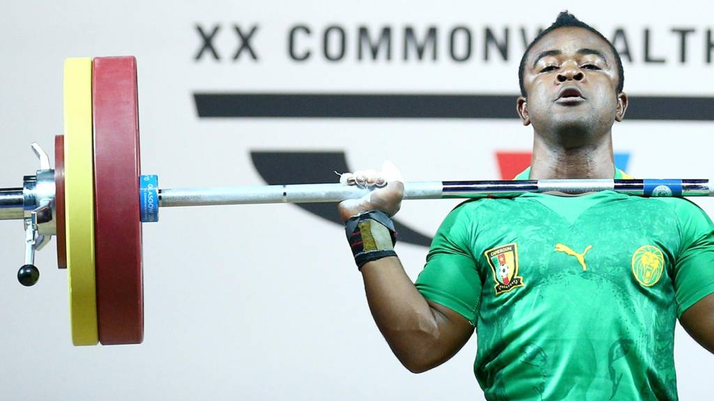 A Cameroon weightlifter