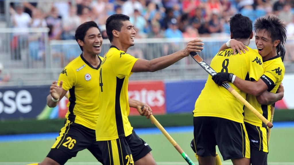 Izwan Firdaus Ahmad Tajuddin celebrates scoring