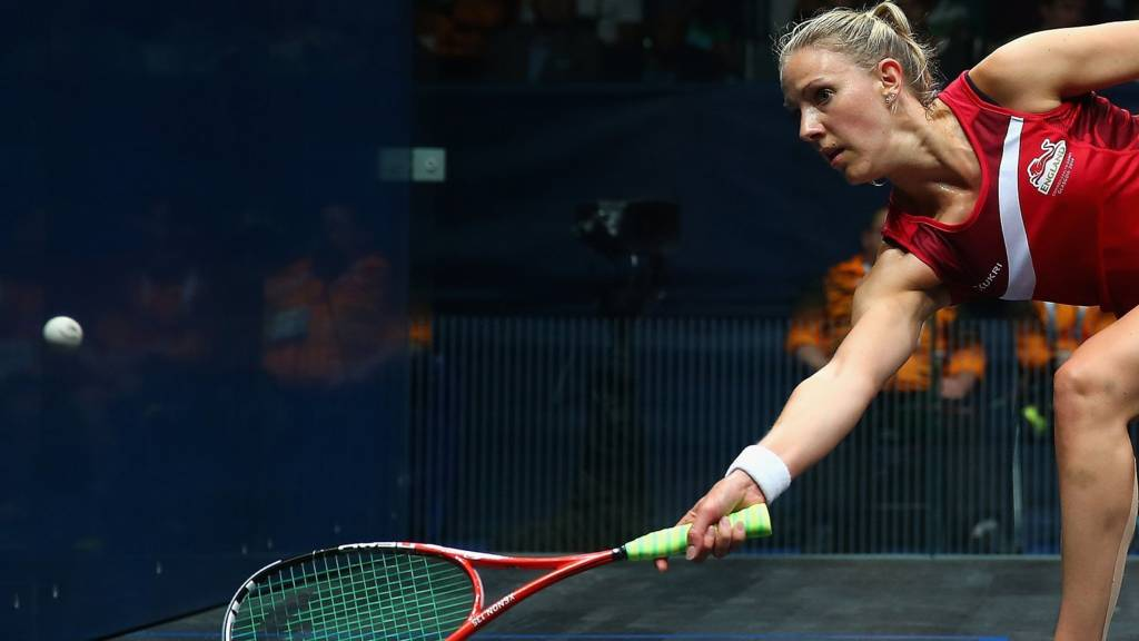 England's Laura Massaro competes at Glasgow 2014