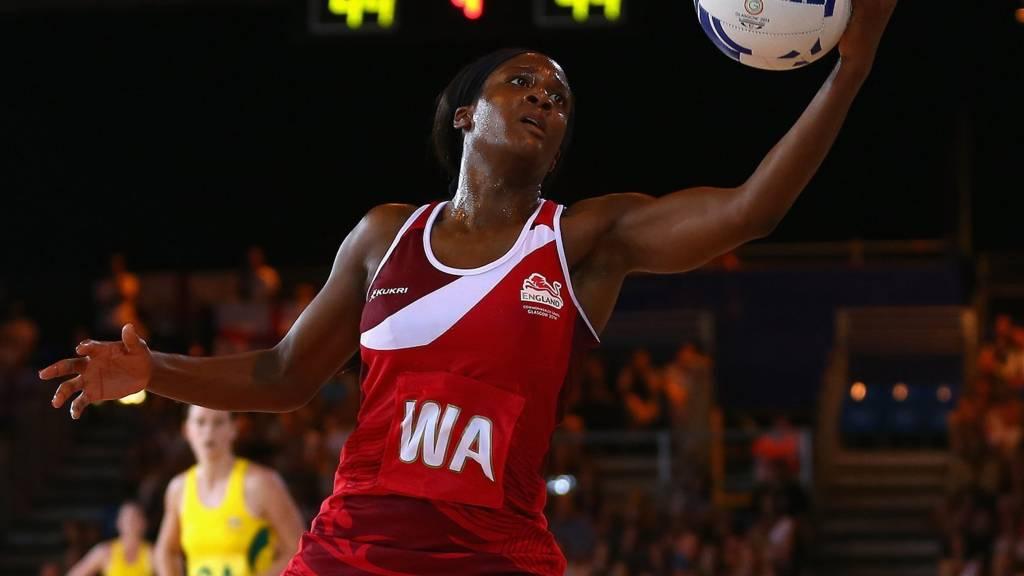 England's Sasha Corbin catches the ball