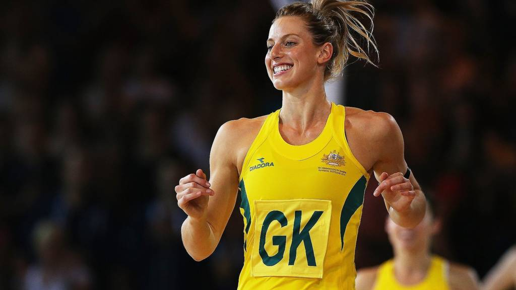 Laura Geitz of Australia in action in the Commonwealth Games