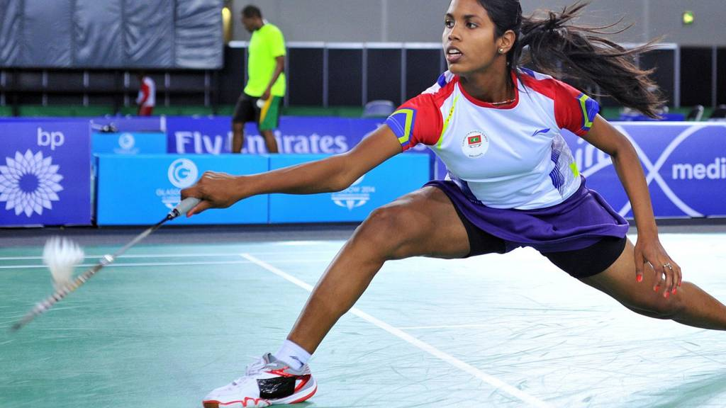 Maisa Ismail of the Maldives competes at Glasgow 2014