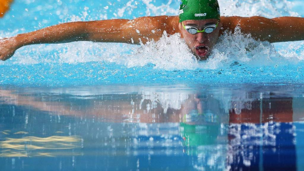 Chad le Clos competing at the Glasgow 2014 Commonwealth Games