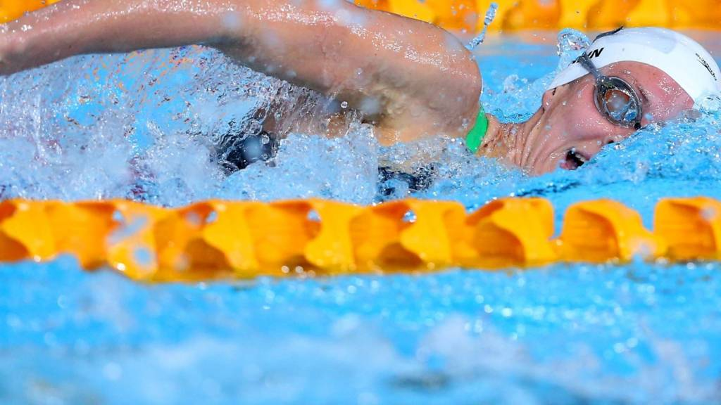 Jazz Carlin of Wales competes at Glasgow 2014