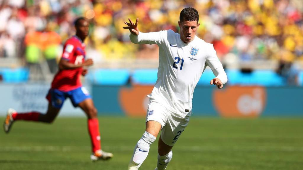 Ross Barkley controls the ball in England's World Cup group game against Costa Rica